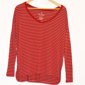 AE Soft & Sexy Red and White Striped Long Sleeve